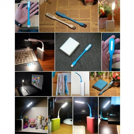 Flexible USB LED Light Lamp 180 Degree Adjustable Portable Lamp for Power Bank PC Laptop Notebook Computer and Other USB Devices