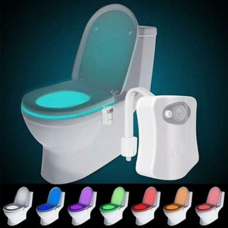 8 Color Toilet Bowl Night Light LED Motion Activated